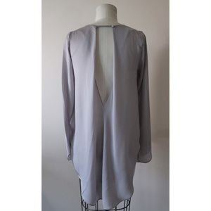 🆕 Esley sequined grey draped back top, Sz S